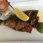 Wonderful sea bream with Mediterranean vegetables