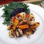 Quinoa organic tropical fruit and heart of palm salad