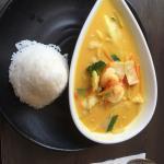 Combinação do prato com camarão