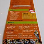 menu & Price List