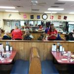 Inside strangely looks a lot older, but is still diner nice