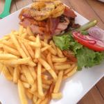 Kona Half Pound Burger with Pineapple and Ham