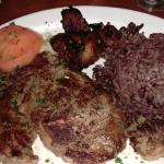 "Ribeye Steak with ""moro"" style rice & beans"