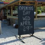 Opening day April 29th!!  3pm