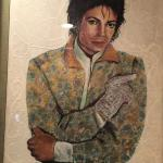 Michael Jackson portrait made by nail polish - I will post the description next