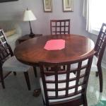 Dining table for 4 in Suite 1