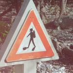 hysterical crossing sign