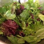Spring salad - locally grown