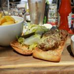 Super yummy Welsh burger and fries