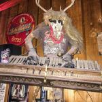 The Red Ram Saloon has eclectic decor.