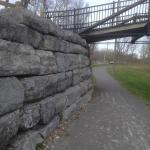 Portion of canal stones under bridge