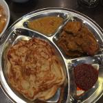 Roti and chicken Curry