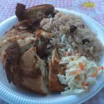 Yummy jerk chicken for just $6.50 US