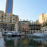 The bay near the hotel