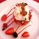 Meringue aux fraises