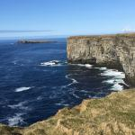 Cliffs on west side of Orkney Island