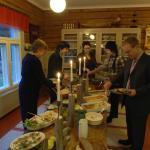 celebrating christmas in Jokiniemen matkailu