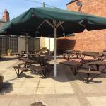 Our large patio beer garden