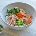Heavenly salmon donburi