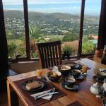 Desayuno y vista de este Lodge