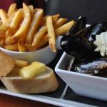 Moules & frites from the bar/lunch menu