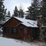 Front of cabin - view from road