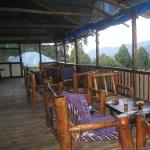 the restaurant and the bwindi forest view