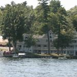 View of the Bay Side Inn from the lake