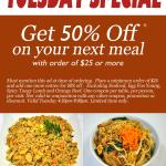 Tuesday Special Offer