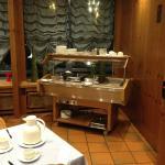 Breakfast hot buffet area