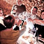 Weinprobe im Gewölbekeller