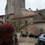 restaurant extérieur vue sur l'abbaye