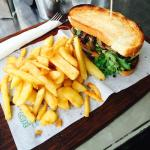 Steak Sandwich and Chips  from The Real Macaw Cafe