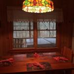 New Lamp over Kitchen Cabin 4. Love It