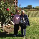 In the gardens at Keis winery with my friend