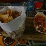 Nacho chips and salsa