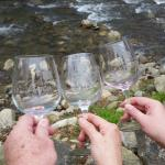 Glasses by the river