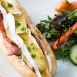 Home Cured Bacon & Somerset Brie Baguette