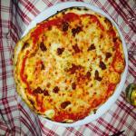 Pizza margherita con aggiunta di n'duja