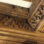 Beautifully carved, ancient lounge ceiling