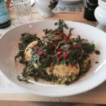 Ravioli mit Ruccola Pesto und Spargel Risotto