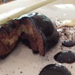 Chocolate dessert inside.