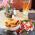 Fresh fish ceviche - heavenly!