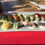 Rainbow roll and mackerel. My favorites!