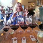 Double flight of wine