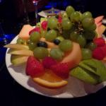 Fresh fruit finishes off your meal!