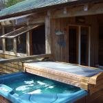 Hot Tube on Deck of Flying Bridge Cabin