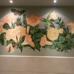Mural on the bathroom wall!