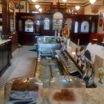 Perfectly restored soda fountain and drug store.