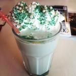 The first Peppermint milkshake!